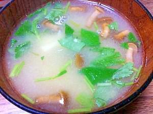 豆腐となめ子の味噌汁