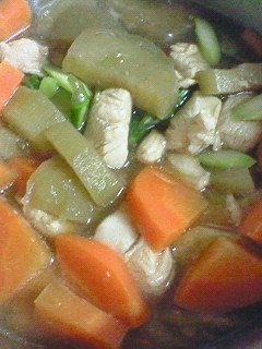 人参とアスパラの鶏煮