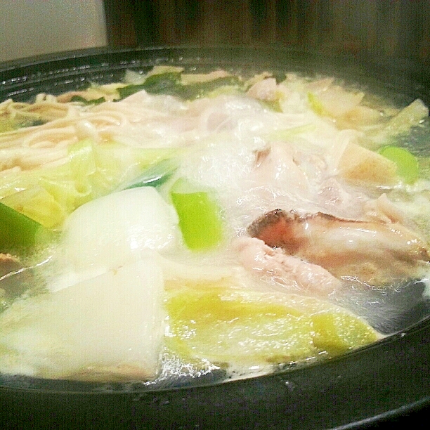 4. 【柚子胡椒】ピリリと辛いうどんすきのレシピ