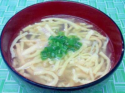 香味ペーストで♪錦糸卵のスープ