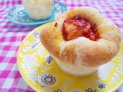 トマトとチキンのマフィンカップパン