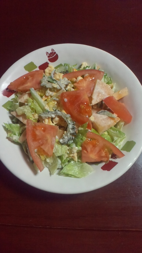 ゴーヤと柿入りマヨネーズサラダ