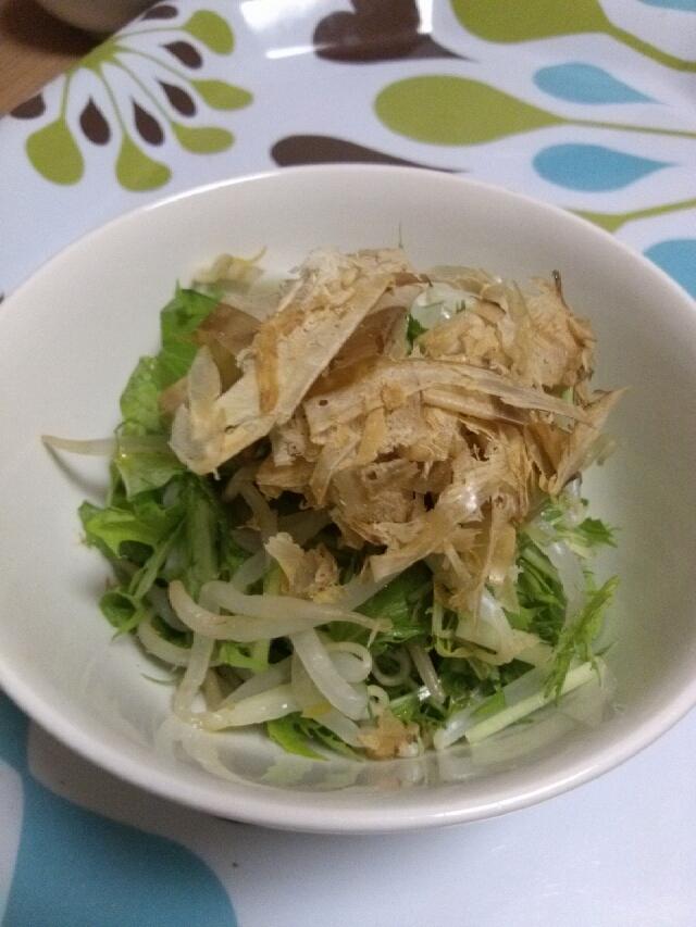 水菜ともやしの和風サラダ