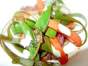 豚タンと焼き野菜のバルサミコ風味イタリア風おつまみ