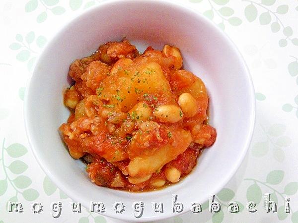じゃが芋と大豆のトマト煮