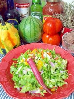 チョップサラダ・NYで大流行・色んな野菜で☆