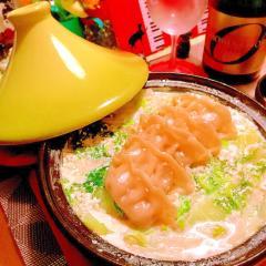 野菜たっぷりのミルク餃子タジン