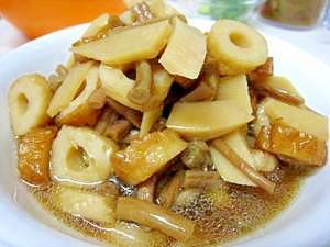 タケノコとゼンマイの煮物