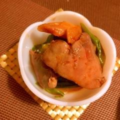 鶏レバーと葱のふんわり花椒煮