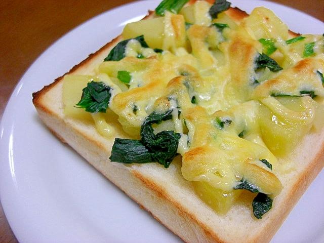 ポテトとほうれん草のチーズトースト