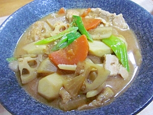 寒い日には根菜たっぷりの味噌煮込みうどん♪