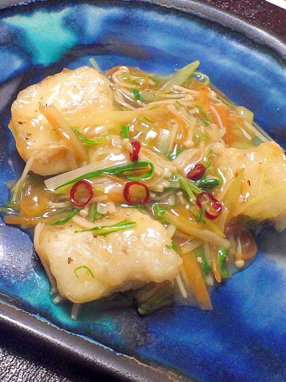 めんつゆとみりんで割烹の味☆鱈の彩り野菜あん レシピ・作り方 by fukuwajutu 楽天レシピ