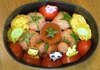 トマトおにぎり★かわいいお弁当