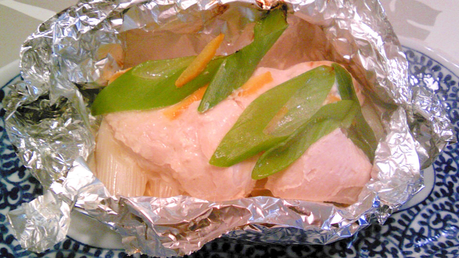 鶏胸肉でホイル焼き