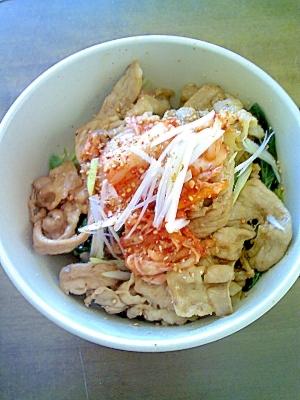 キムチナムル豚丼