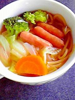 野菜たっぷり☆スープパスタ♪