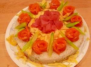 ひな祭りに♥ちらし寿司ケーキ♥ レシピ・作り方
