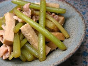 ふきと凍み豆腐の炒め煮