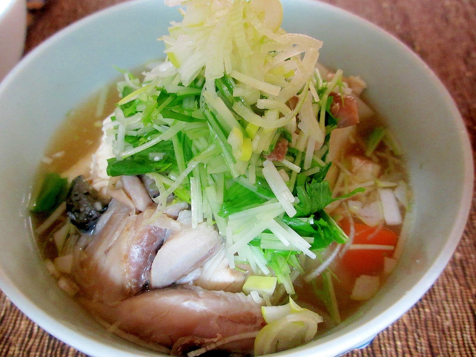 ぶりと豆腐のおつゆ梅風味