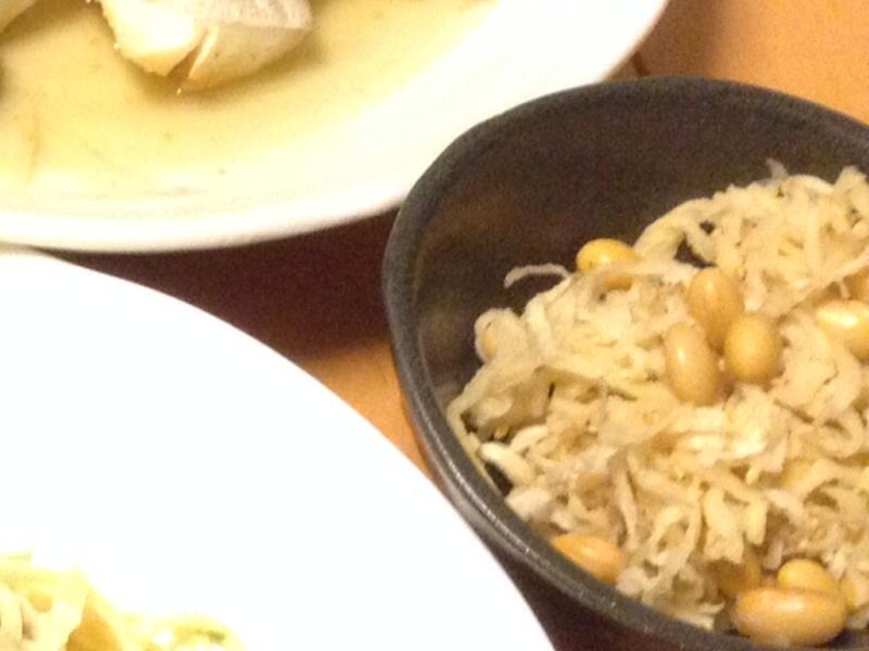 豆と切干ダイコンサラダ