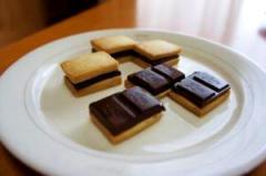 焼きたてに板チョコ乗せるだけ♪のチョコクッキー