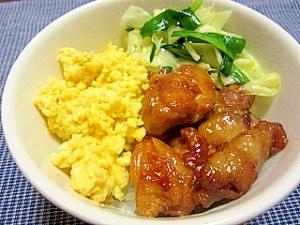 鶏照焼き4色丼