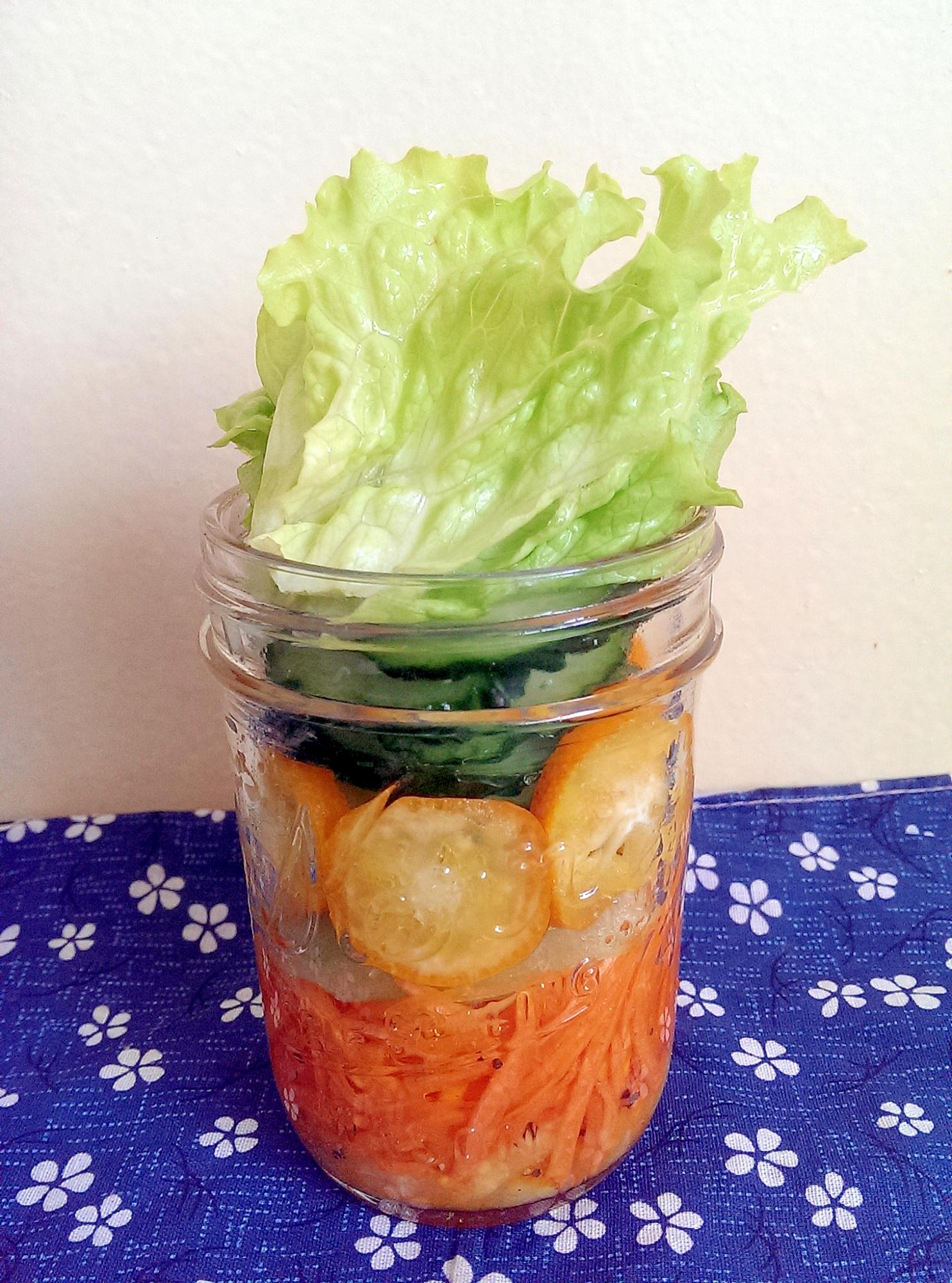 にんじんとセロリの金柑サラダ