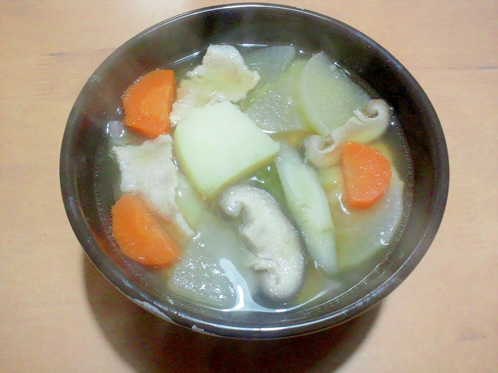 圧力鍋で時間短縮♪生姜たっぷりのポカポカ豚汁♪