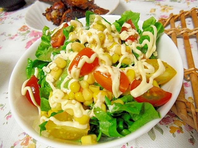 3色のミニトマトサラダ