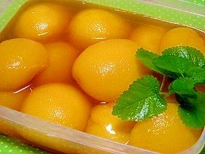 桃の簡単コンポート