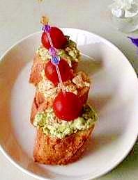アボガドと卵のディップ