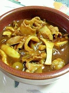 茸いっぱいのハヤシライスのスープ♪