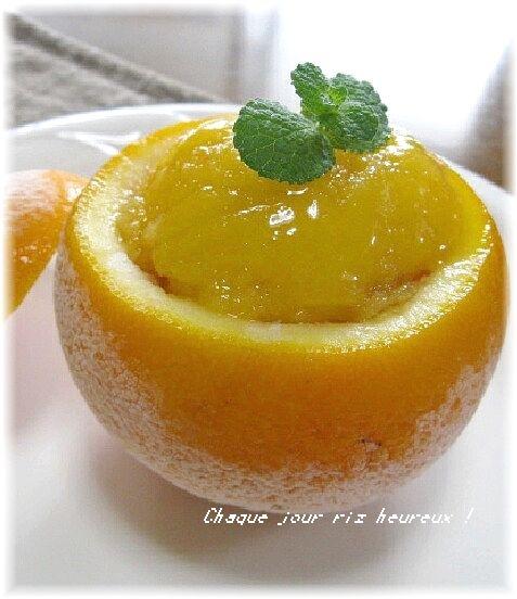 3. ジュースも使ってダブルオレンジシャーベット