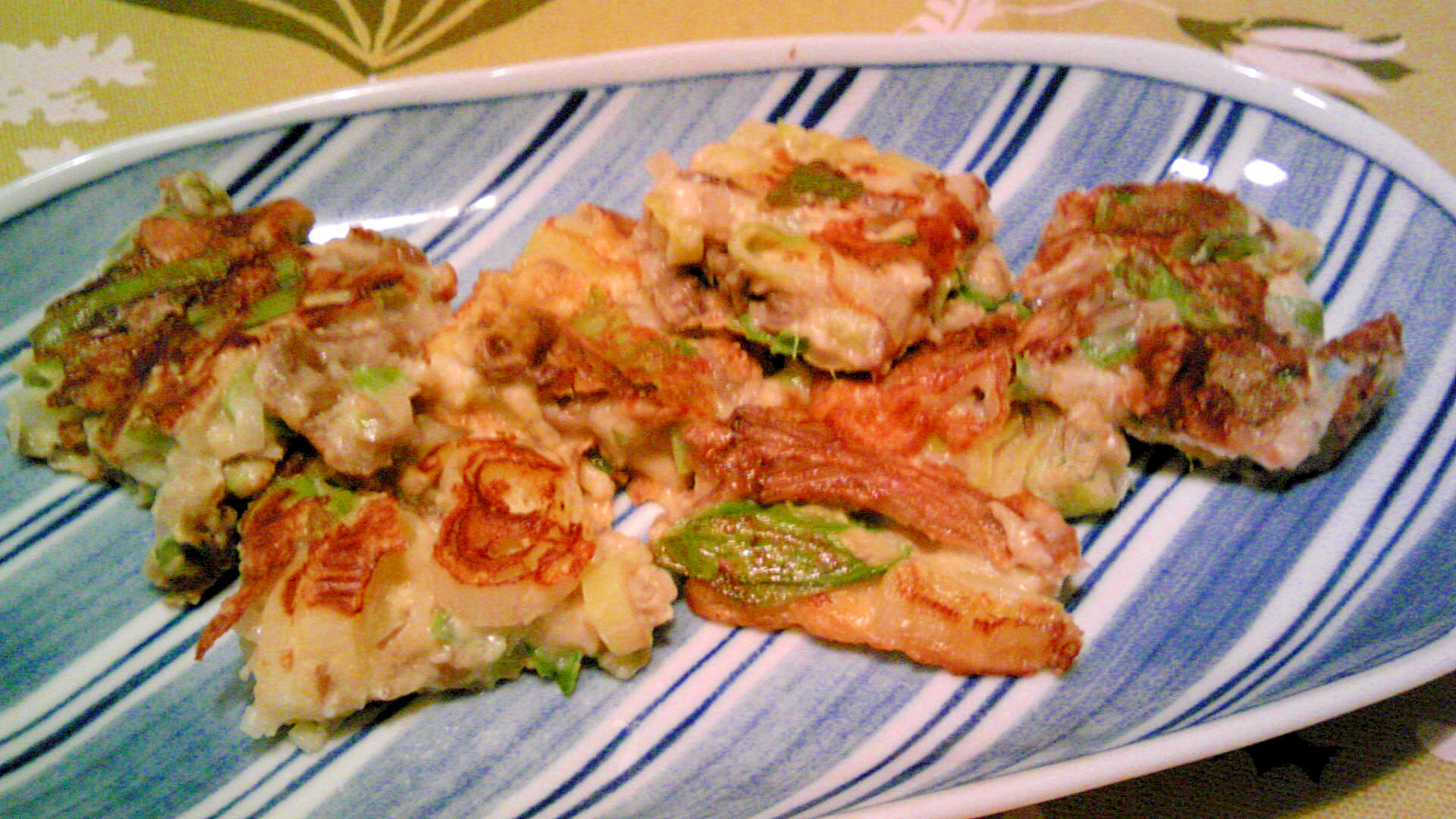 葱と舞茸のチヂミ風