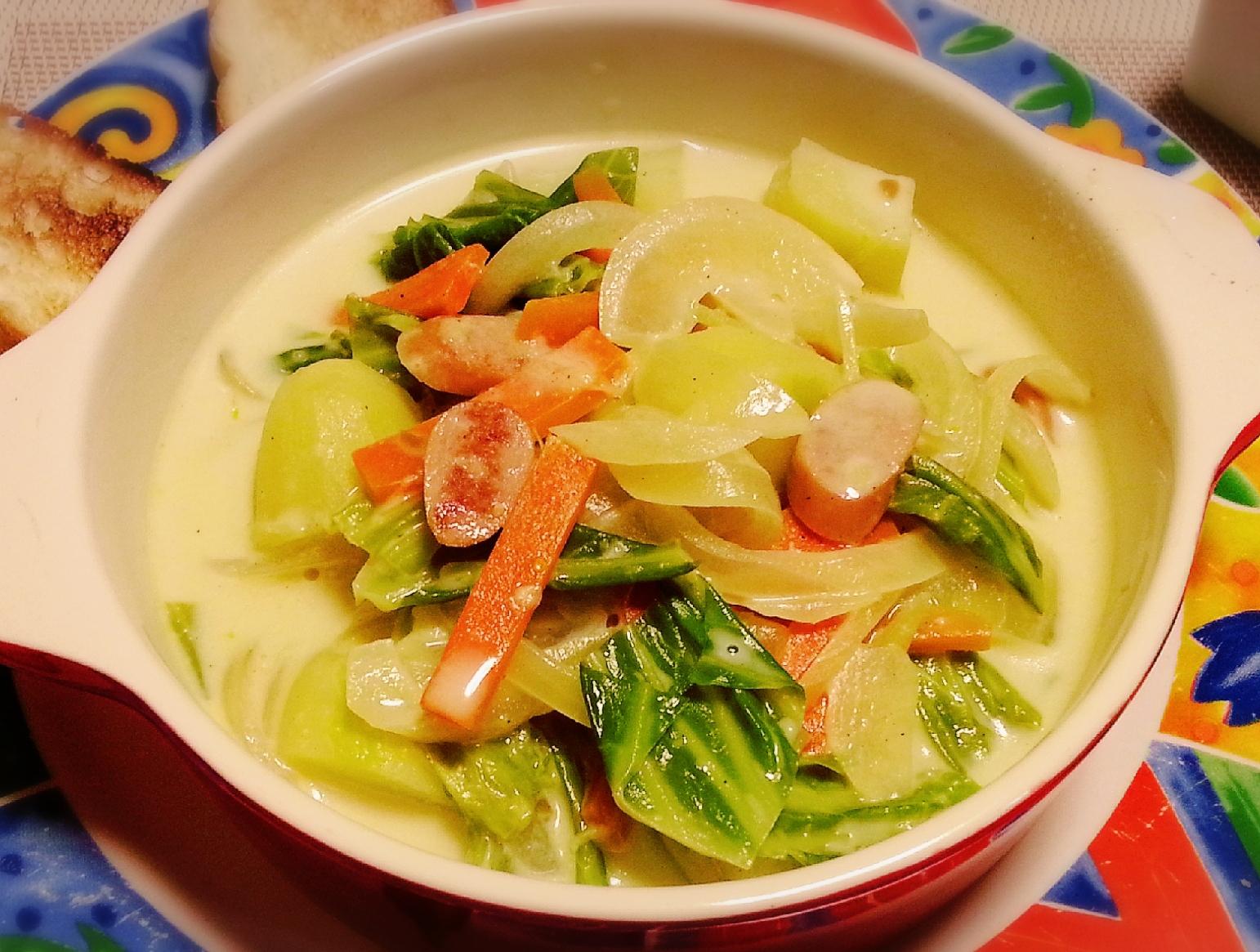 5. 野菜たっぷり!柚子味噌ミルクスープ