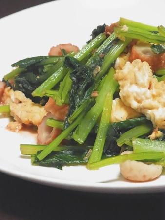 小松菜のたまご炒め。