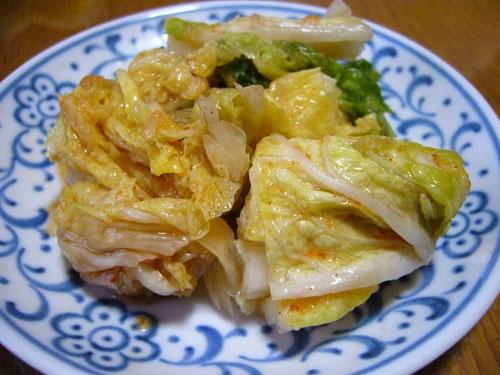 4. 辛すぎない白菜キムチ