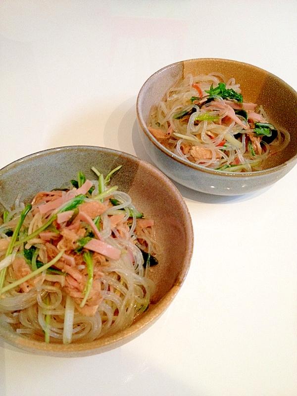 シャキシャキ水菜の春雨サラダ