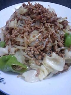 甘味噌味の野菜炒め