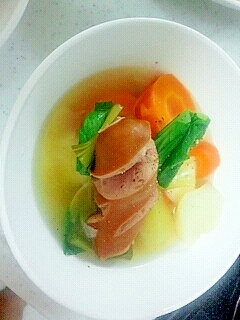 和風野菜でポトフ