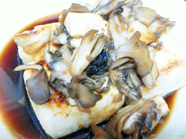 豆腐の舞茸のソースがけ