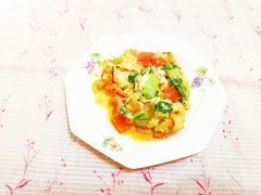 ターサイとトマトのスクランブルエッグ