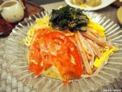 大豆でヘルシー☆豆干絲(トーカンスー)の冷麺風♪