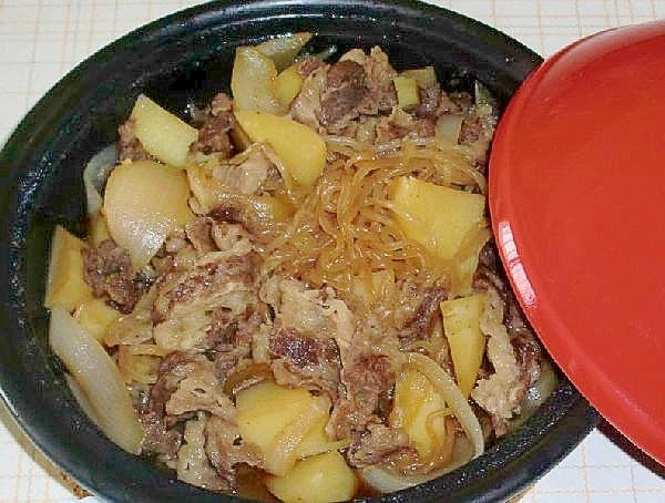 タジン鍋で、肉じゃが!