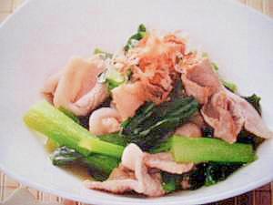 カルシウムたっぷり!小松菜の煮びたし