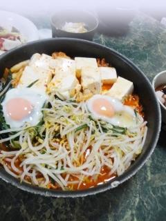 豆腐とニラのキムチポッカ・ポッカ