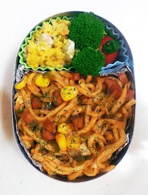 2学期の初弁当はバージョンアップ!スパゲティ