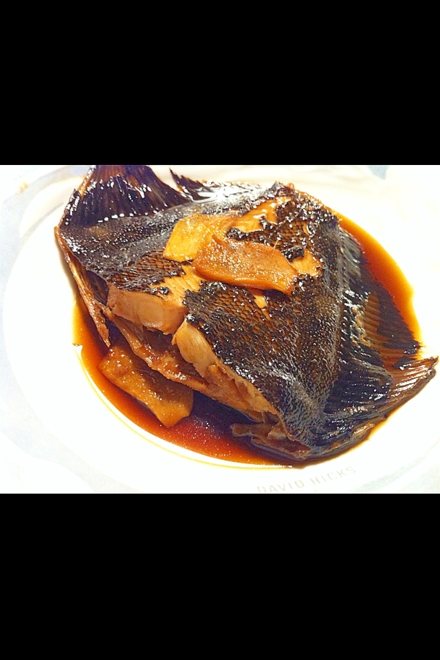 カレイの甘辛生姜煮