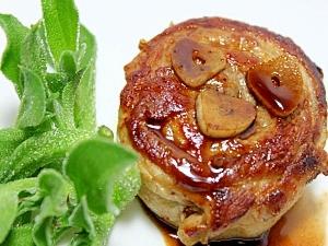 ぐるぐるポークステーキ★豚バラ薄切り肉で! レシピ・作り方