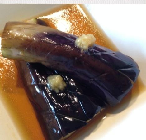 ちょこっと副菜に!焼きナスの生姜のせお浸し